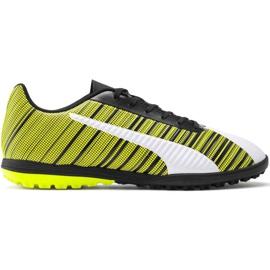 Puma One 5.4 Tt M 105653 03 fotbollsskor vit, svart, gul gul