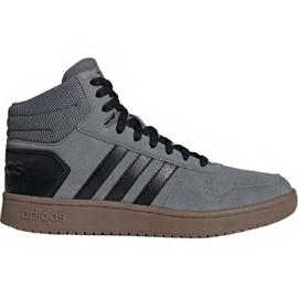 Adidas Hoops 2.0 Mid M EE7367 skor grå