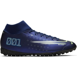 Nike Mercurial Superfly 7 Academy Mds Tf M BQ5435 401 fotbollsskor blå marinblå