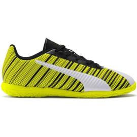 Puma One 5.4 It Jr 105664 04 fotbollsskor vit, svart, gul gul