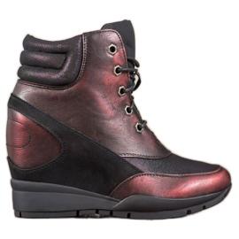 Sergio Leone Bourgogne Sneakers röd