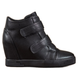Sergio Leone Eco lädersneakers svart
