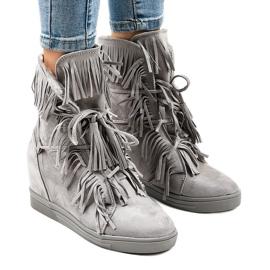 Grå sneakers H6301A-26