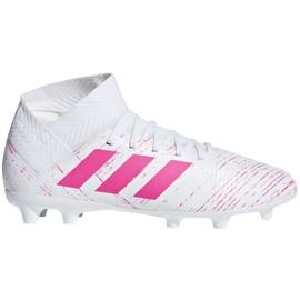 Adidas Nemeziz 18.3 Fg Jr CM8506 fotbollsskor vit, rosa vit