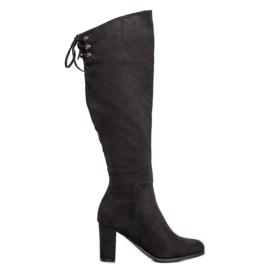 Suede Boots VINCEZA svart