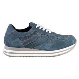 Kylie Sportskor med ekologiskt läder blå