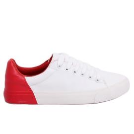 Vita och röda damskor A88-29 W-RED II Type