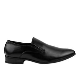 Svarta eleganta loafers 6-317