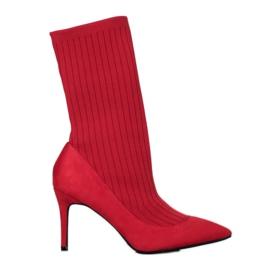 SHELOVET Slip-on ankel stövlar röd