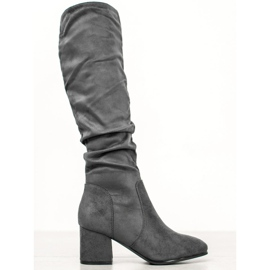 Seastar Grey Knee High Boots grå