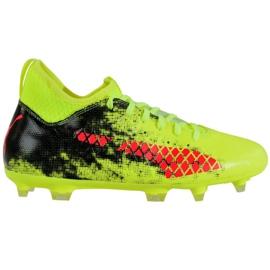 Puma Future 18.3 Fg Ag Jr 104332 01 fotbollsskor grön svart, röd, grön