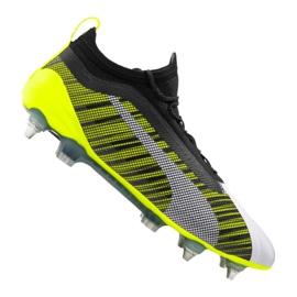 Puma One 5,1 Mx Sg Fg M 105615-02 fotbollsskor vit, svart, gul flerfärgad