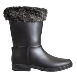 SHELOVET Wellingtons With Fur svart