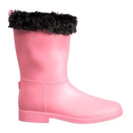 SHELOVET Wellingtons With Fur rosa