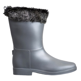 SHELOVET Wellingtons With Fur grå
