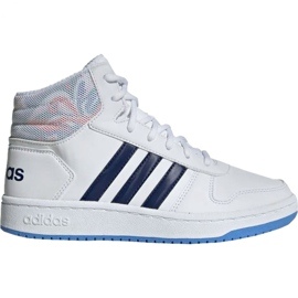 Adidas Hoops Mid 2.0 Jr EE8546 skor vit