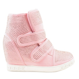Pink Wedge sneakers KLS-112-4 rosa