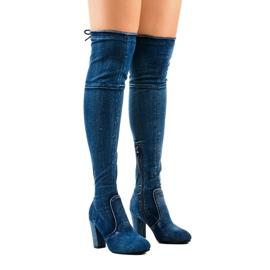 Klassiska denimstövlar HX15135-3B blå