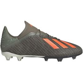 Adidas X 19.2 Fg M EF8364 fotbollsskor grå grön
