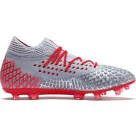 Puma Future 4.1 Netfit Fg Ag M 105579 01 fotbollsskor röd, grå / silver grå
