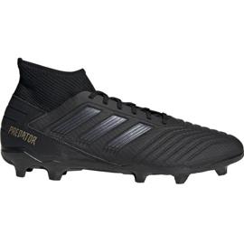 Adidas Predator 19.3 Fg M F35594 fotbollsskor svart svart