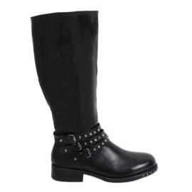 Kvinnors svarta stövlar med dubbar svart Y208 Black II Quality