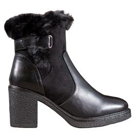 SHELOVET Stövlar Med Fur svart