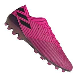 Adidas Nemeziz 19.1 Ag Fg M FU7033 fotbollsskor rosa rosa