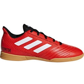 Adidas Predator Tango 18.4 Sala Jr DB2343 fotbollsskor röd
