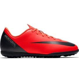 Nike Mercurial Vapor X 12 Club Gs CR7 Tf Jr AJ3106 600 fotbollsskor röd