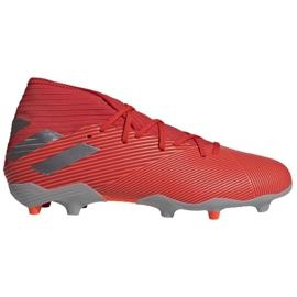 Adidas Nemeziz 19.3 Fg M F34389 fotbollsskor röd, grå / silver röd