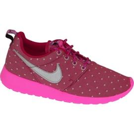 Nike Rosherun Print Gs W skor 677784-606 rosa