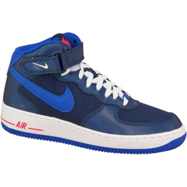 Nike Air Force 1 Mid Gs W 314195-412 skor marinblå