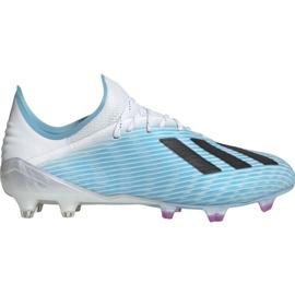 Adidas X 19.1 M Fg F35316 fotbollsskor vit, blå blå