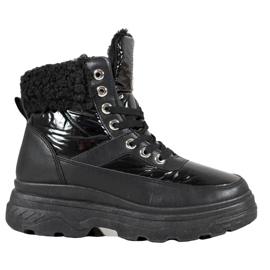 Bella Paris Sneakers med fårskinn svart