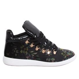Velvet sneakers K1834206 Flores svart