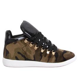 Velvet sneakers K1834206 Camuflaje grön