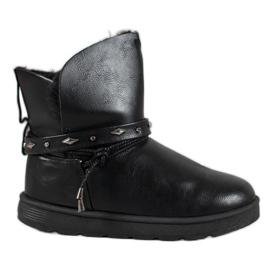 SHELOVET Mukluki med Eco-läder svart