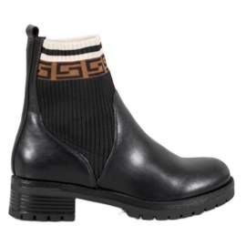 Gogo Slip-on-stövlar med Eco-läder svart