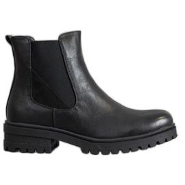 Super Mode Klassiska arbetare med Eco-läder svart