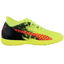 Puma Future 18.4 Tt M 104339 01 fotbollsskor svart, grönt, orange