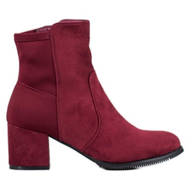 J. Star Bourgogne Booties röd
