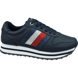 Tommy Hilfiger Tommy Retro Crystal Sneaker W FW0FW04683 Cki marinblå