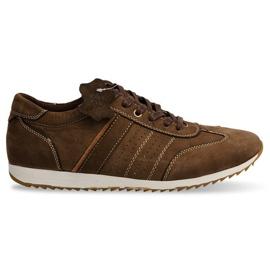 Skor Sneakers Läder NAT. N45 Brun