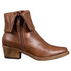 Kylie Cowboy-stövlar med upprullningsöverdel brun