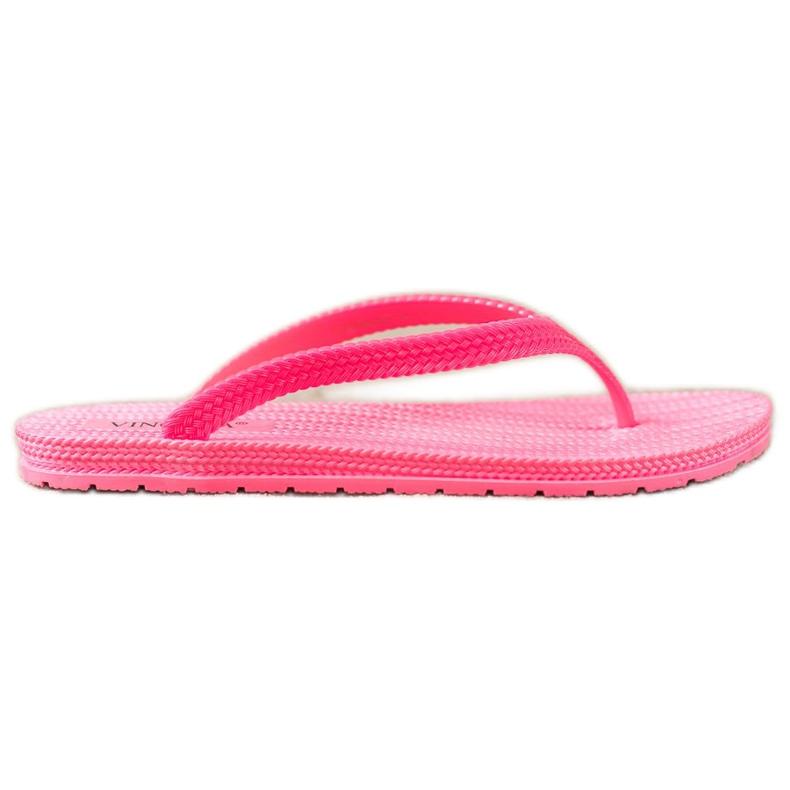 VINCEZA flätade flip-flops rosa