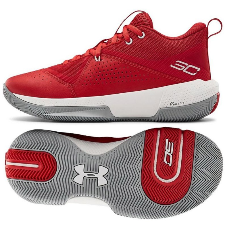 Under Armour Gs Sc 3Zero Iv Boys Jr 3023918-600 basketskor flerfärgad röd