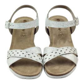 Sandaler inlägg Inblu 038 silver grå 4