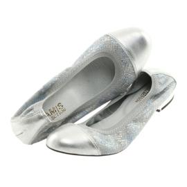 Ballerinki kvinnors suddgummi Gamis 1402 silver 4