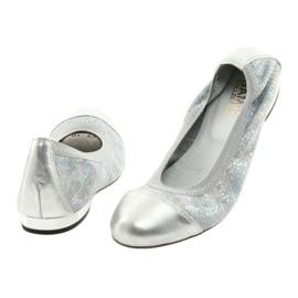 Ballerinki kvinnors suddgummi Gamis 1402 silver 3